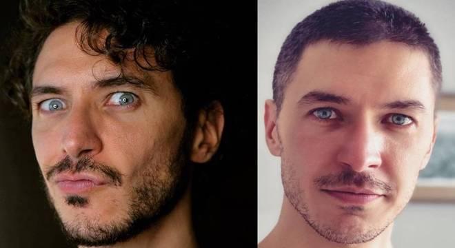 Luiz Perez antes e depois do corte de cabelo feito por Débora Nascimento