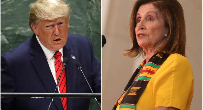 Pelosi (d) anunciou investigação contra Trump nesta terça-feira (24)