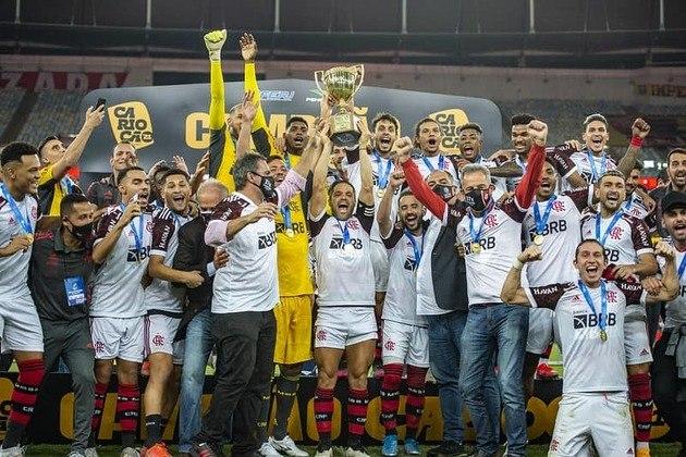 Não perca as contas: agora são 37 títulos do Campeonato Carioca na conta do Flamengo. Relembre na galeria os anos e quem foi o vice em cada conquista rubro-negra no Estadual!