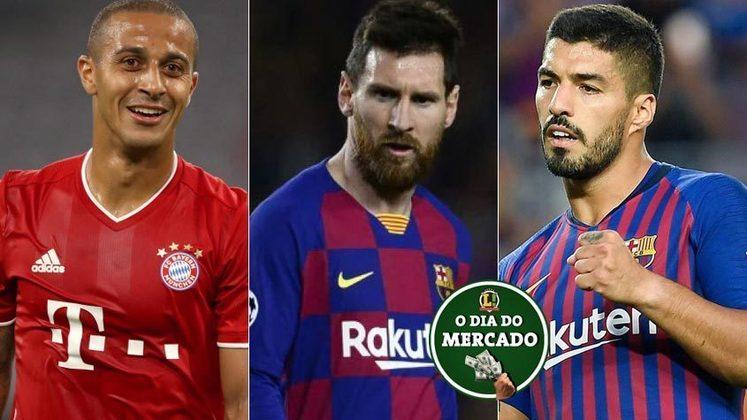 Não tem como falar de outra coisa: Lionel Messi. O craque argentino teria pedido para deixar o Barcelona e, claro, muitos clubes querem contar com o jogador. Confira aqui quais são eles, além de também saber como andam as negociações por Luis Suárez e Thiago Alcântara.
