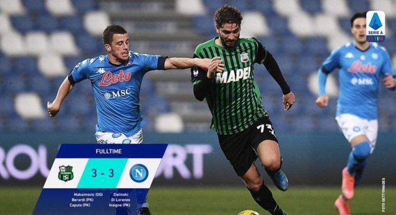 Sassuolo 3 X 3 Napoli