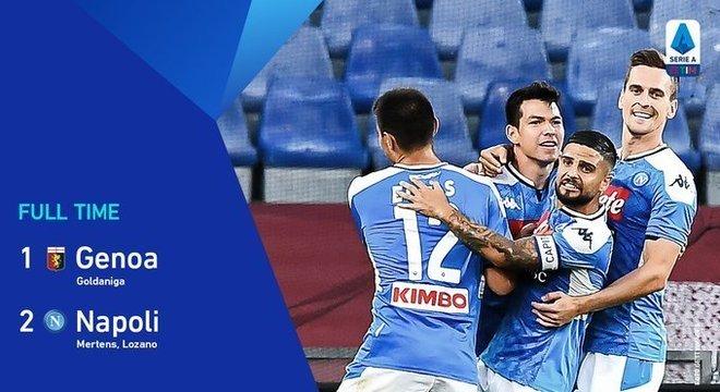 A capa do Twitter do Napoli