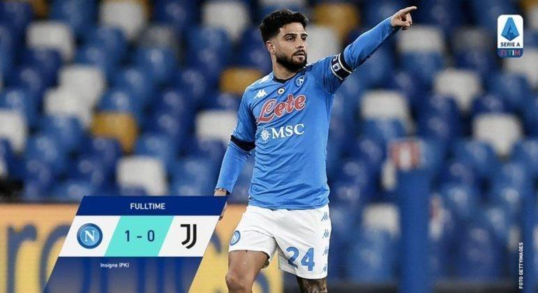 Lorenzo Insigne, de pênalti, Napoli 1 X 0 Juventus