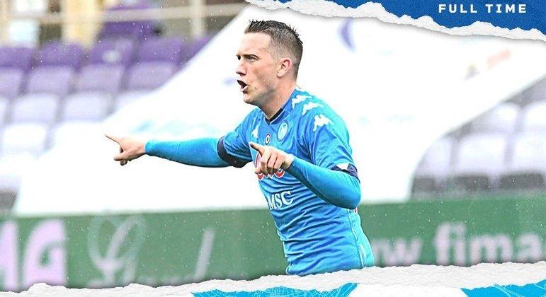 Zielinsly, do Napoli, o autor do segundo gol