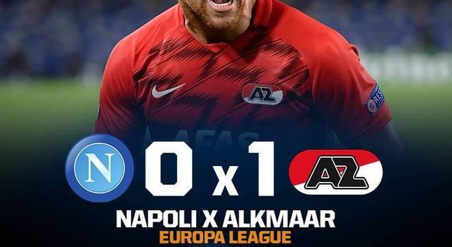 O Napoli, na primeira peleja da EL, derrota caseira