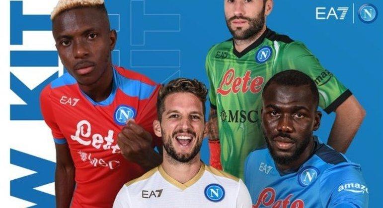 Todas as cores do Napoli nesta temporada de 2021/22