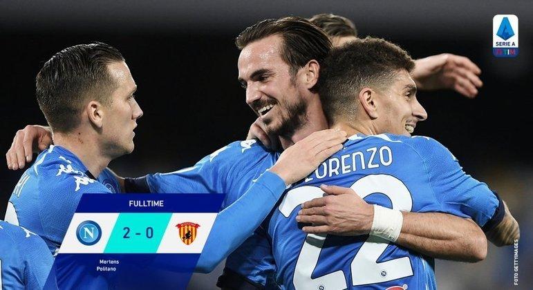 Napoli, um triunfo sossegado sobre o Benevento