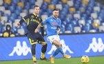 Já o Napoli venceu o Parma por 2 a 0, também no sábado (30), no estádio Diego Armando Maradona, em Nápoles, pelo Italiano. Com o resultado, o time napolitano chegou aos 37 pontos e ocupa a quinta posição na tabela