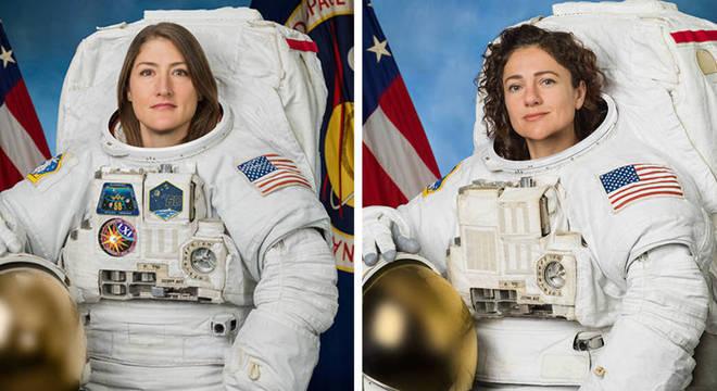 Christina Koch e a Jessica Mier farão a 1ª caminhada espacial só de mulheres astronautas