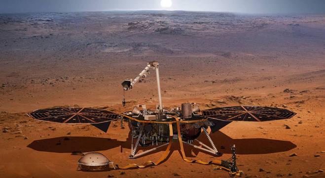 A missão InSight irá monitorar a movimentação do subsolo de Marte