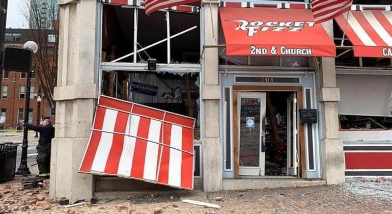 Forte explosão ocorreu na região central de Nashville, no Tennessee, nos EUA