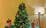 Como tradição da família de Cristiano Ronaldo a fotinho do Natal é sempre divertida! O craque, noiva Giorgina e os quatros filhos estão felizes com pijamas especiais