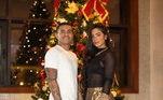 No Qatar, o ex-palmeirense Dudu passou com a atual companheira Paula, que está morando com ele por lá