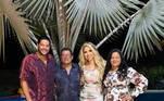 Hulk passou com a atual mulher Camila Ângelo, e os pais Socorro e Gilvan. As crianças ficaram com a ex-mulher, Iran Ângelo
