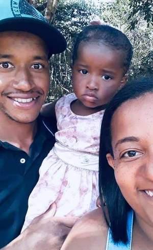 Reinaldo com esposa e filha