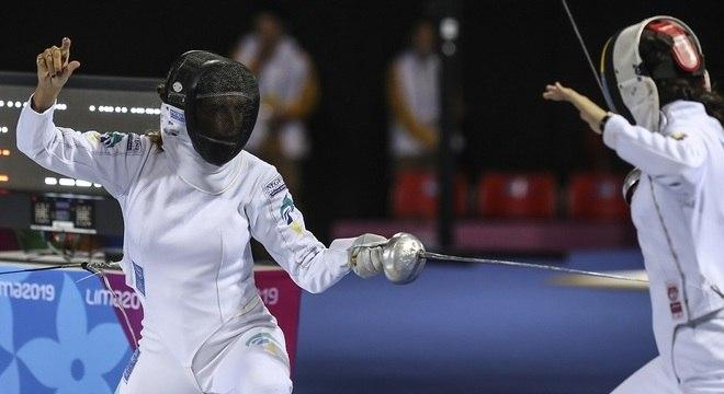 No Pan de Lima, Nathalie conquistou uma medalha de bronze para o Brasil