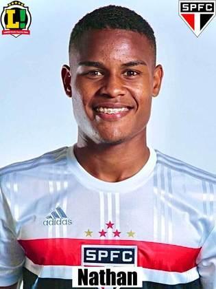 Nathan - 6,0 - Não foi capaz de mudar o jogo do Tricolor, mas não comprometeu.