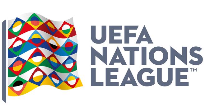 O elegante logotipo da Liga das Nações