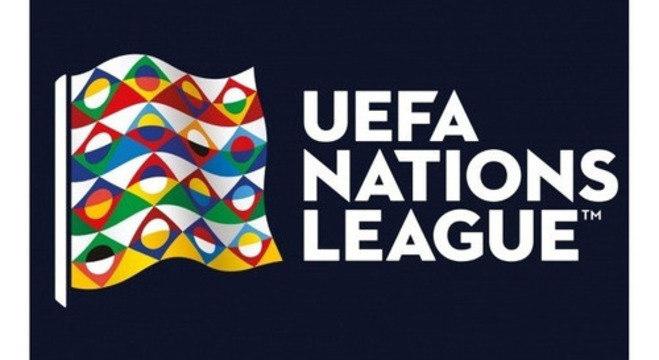 O logotipo da Liga das Nações