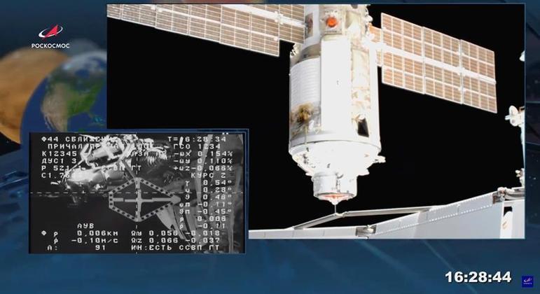 Módulo científico Nauka se acoplou à Estação Espacial Internacional