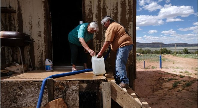 Quase 40% da Nação Navajo não tem acesso à água potável