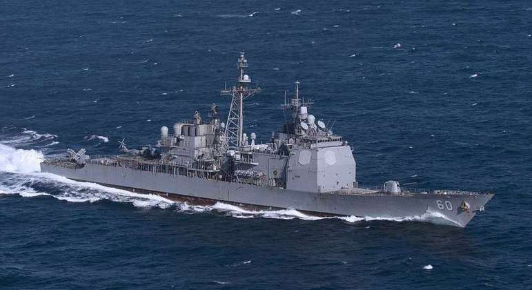 Navios americanos são comuns na parte asiática do Pacífico