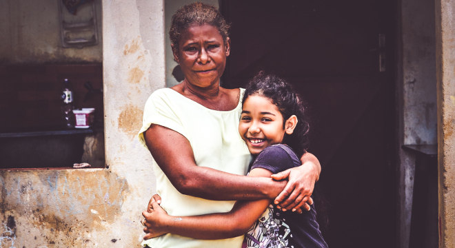 Necilenia Nascimento de Araújo Pereira e a filha, Marjorie