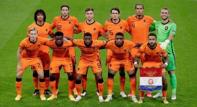 A seleção da Neerlândia, a ex-Holanda