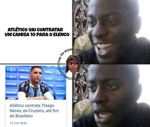 Negociação entre Atlético-MG e Thiago Neves rendeu memes nas redes sociais
