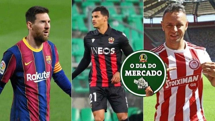 Negociação envolvendo Rafinha e Flamengo ganha novo capítulo importante, Palmeiras está praticamente fechado com volante brasileiro que atua na Europa e Messi recebe proposta ousada do presidente do Barcelona. Tudo isso e muito mais no Dia do Mercado de quarta-feira.
