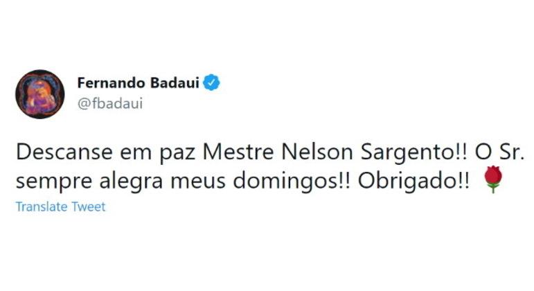 O músico Fernando Badauí, da banda CPM 22, publicou uma mensagem nas redes sociais:
