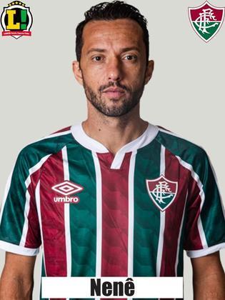NENÊ - 7,5 - Com liberdade para criar especialmente no primeiro tempo, distribuiu passes e fez lançamentos perigosos. Foi crucial para tornar o Fluminense incisivo. Saiu por cansaço.