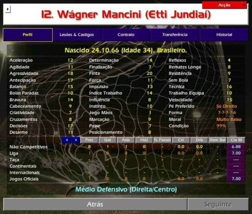 Nenê era companheiro de time do hoje técnico Vagner Mancini (com W no game).