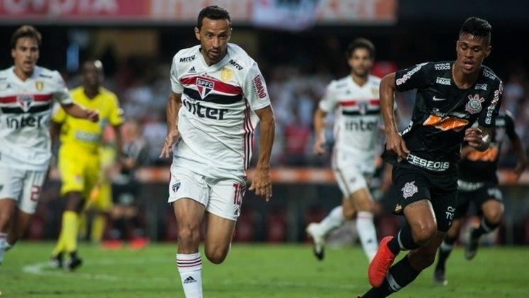 Nenê - Líder e muitas vezes capitão da equipe em 2018, o meia chegou a Tricolor no começo daquele ano, após jogar no Vasco. Fez 37 jogos no Tricolor, com oito gols marcados. Saiu brigado com a comissão técnica e hoje está no Fluminense.