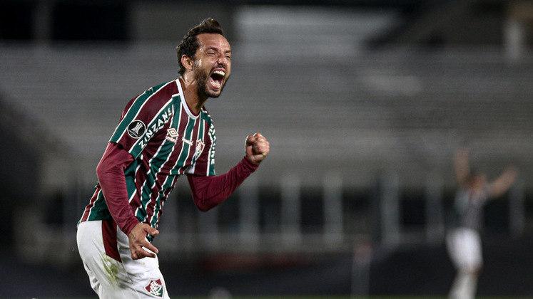 Nenê marcou um gol na vitória mais importante da temporada até aqui. O Fluminense derrotou o River Plate por 3 a 1, em pleno Monumental de Nuñez, e garantiu o primeiro lugar no Grupo D da Copa Libertadores 2021.