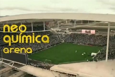Pressão econômica começou. Propaganda do novo nome da arena no Jornal Nacional
