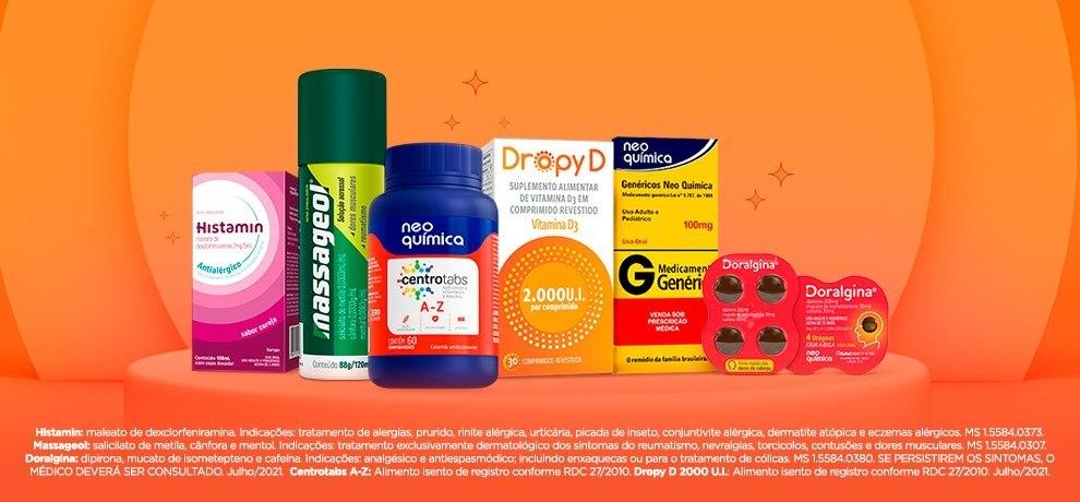 """Neo Química é um dos principais laboratórios do setor farmacêutico brasileiro, tendo como base de suas ações a assinatura """"Sua saúde é nossa vocação"""""""