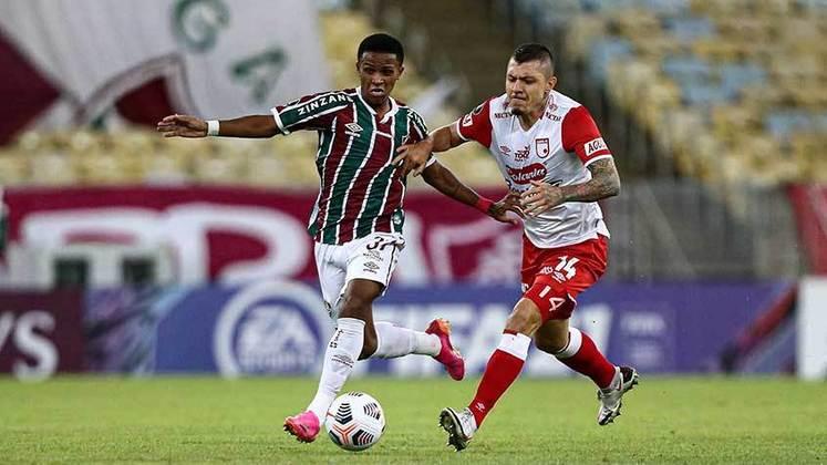 Nesta quarta-feira, o Fluminense venceu de virada o Santa Fe por 2 a 1, no Maracanã, e deixou encaminha sua vaga nas oitavas de finais da Libertadores. Os gols do jogo válido pela quarta rodada da competição, foram marcados por Jefersson - para o Santa Fe -, além de Fred e Caio Paulista - para o Tricolor.