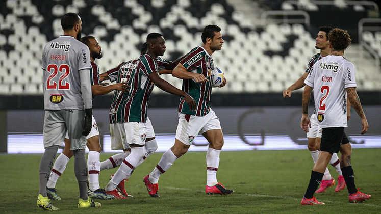 Nesta quinta-feira, o Fluminense perdeu para o Atlético-MG por 2 a 1, no Estádio Nilton Santos. Em jogo válido pela ida das quartas de final da Copa do Brasil, Fred marcou para o Tricolor, mas não foi suficiente para garantir a vitória. Confira as notas do time. (Por Ana Daróz; anapereira@lancenet.com.br)
