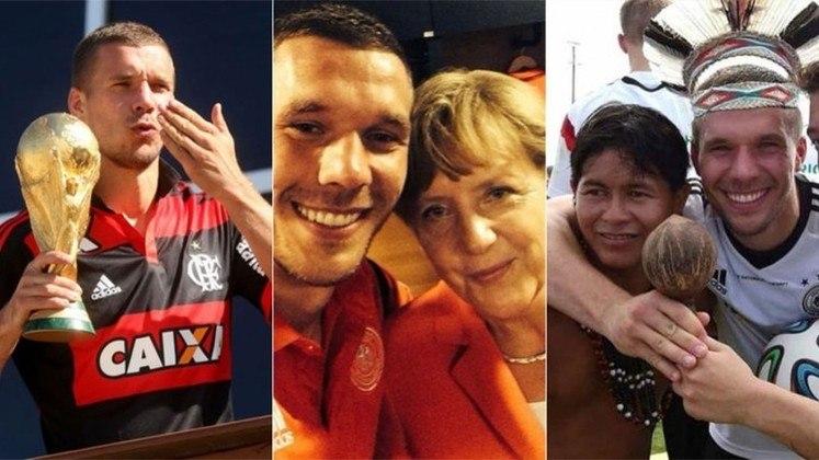 Durante a Copa do Mundo de 2014, Lukas Podolski postou momentos inusitados nas redes sociais e conquistou a torcida brasileira com simpatia e carisma. Além disso, ele mostrou ter forte ligação com o Brasil e com a camisa do Flamengo. Confira na galeria a seguir na semana em que ele completou 35 anos