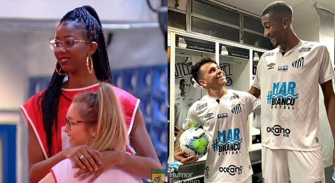 Nesta segunda-feira começou a disputa por 1,5 milhão do Big Brother Brasil e, logo na estreia, a internet foi tomada pelos tradicionais memes. Os mais apaixonados por futebol não ficaram de fora e entraram na zoeira, principalmente fazendo montagens com a diferença de altura entre Camilla de Lucas e Carla Diaz. Veja na galeria! (Por Humor Esportivo)