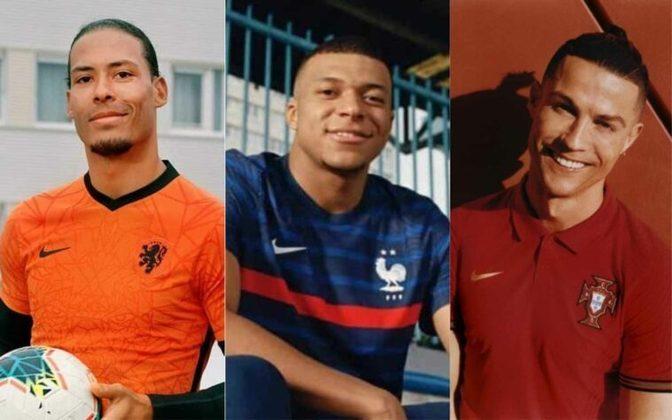 As principais seleções da Europa fizeram o lançamento das camisetas que serão usadas ao longo da temporada. Holanda, Croácia, França, Portugal e Inglaterra ganharam novos uniformes 1 e 2. Os modelos serão usados na Liga das Nações e na Eurocopa 2021. Veja as camisas na galeria