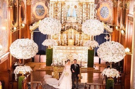 Alessandra Cury e o noivo Henrique