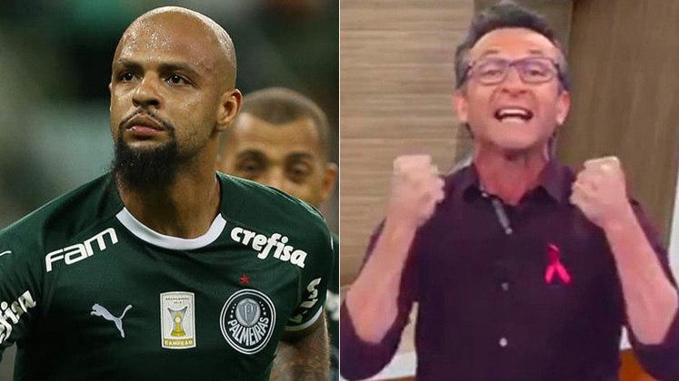 Neto x Felipe Melo: O apresentador da Band e o volante do Palmeiras já trocaram farpas mais de uma vez. Uma das tretas mais famosas entre eles foi quando Felipe Melo chamou Neto de