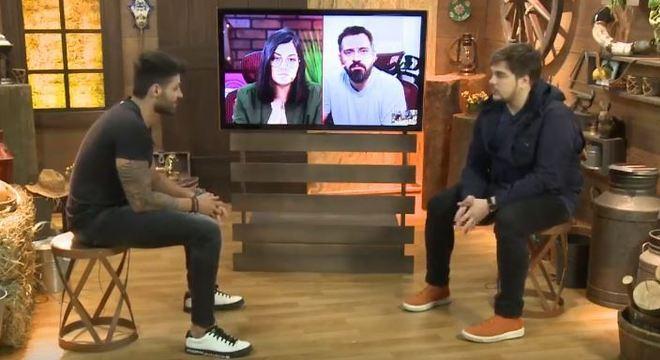 Netto conversou com apresentador da live, Lucas Salles