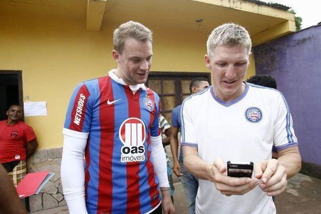 Na Copa do Mundo no Brasil, Neuer e Schweinsteiger se identificaram muito com o Bahia. Os dois fizeram juntos um vídeo com torcedores cantando o hino do clube nordestino