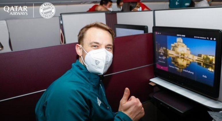 Goleiro Neuer e todo o time alemão foram obrigados a dormir no avião