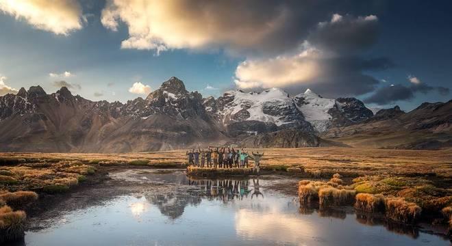 Uma oficina realizada em Huarapasca, no Parque Nacional Huascarán, na região de Ancash, Peru.