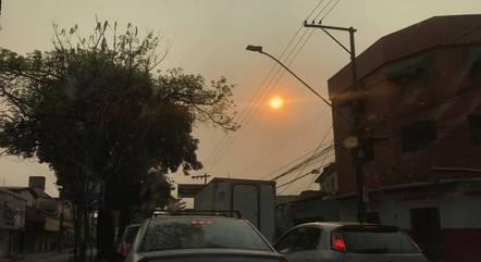 Moradores registraram névoa seca em BH