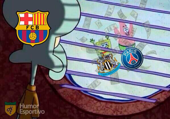 Newcastle, o novo rico do futebol: torcedores fazem memes com investimento multimilionário no clube inglês.